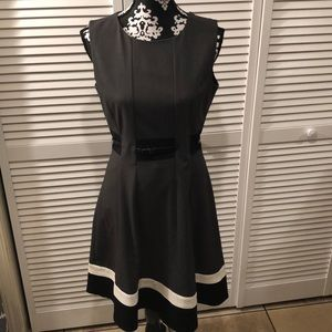Calvin Klein Belted Sheath Dress Size 6